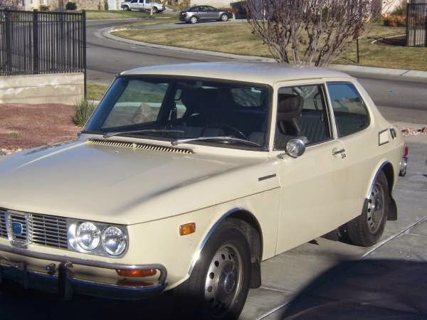 Low-Mile Saab 99 in the Desert