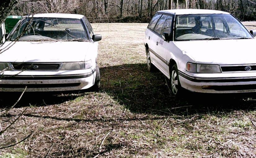 Go Postal with two RHD Subaru Wagons