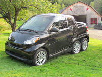 Six-Wheeled Smart Car Pickup Conversion