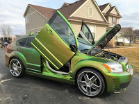 "Dodge Caliber ""Show Car"" with Lambo Doors and SEMA Histroy"