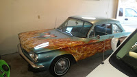 "Corvair with ""Beach Boys in Hell"" Mural"
